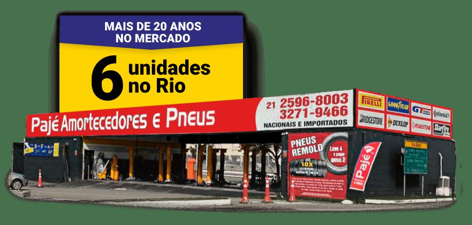 Pajé Amortecedores, seu Auto Center completo com 6 lojas no Rio de Janeiro