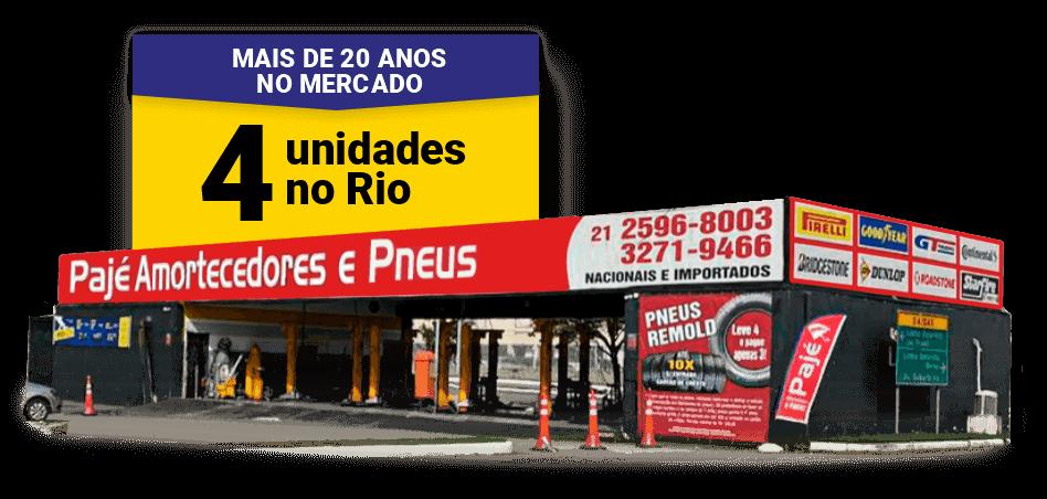 Pajé Amortecedores, seu Auto Center completo com 4 lojas no Rio de Janeiro